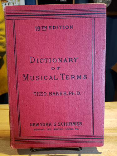 Dictionary of Musical Terms - USED