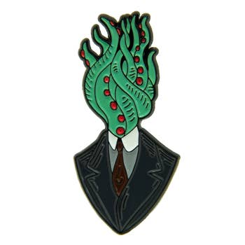 Tentacle Man HP Lovecraft Horror Enamel Pin