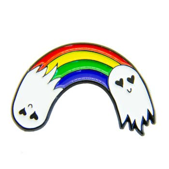 Rainbow Ghost Enamel Pin