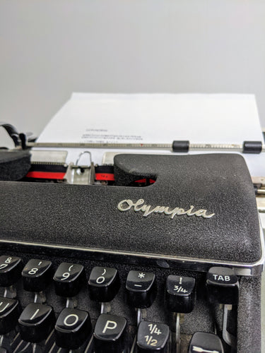 Vintage OLYMPIA Manual Typewriter