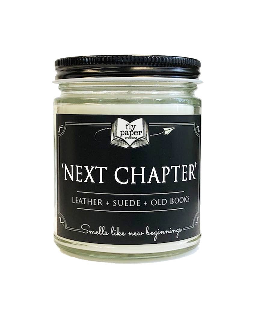 Next Chapter Literary Glass Candle