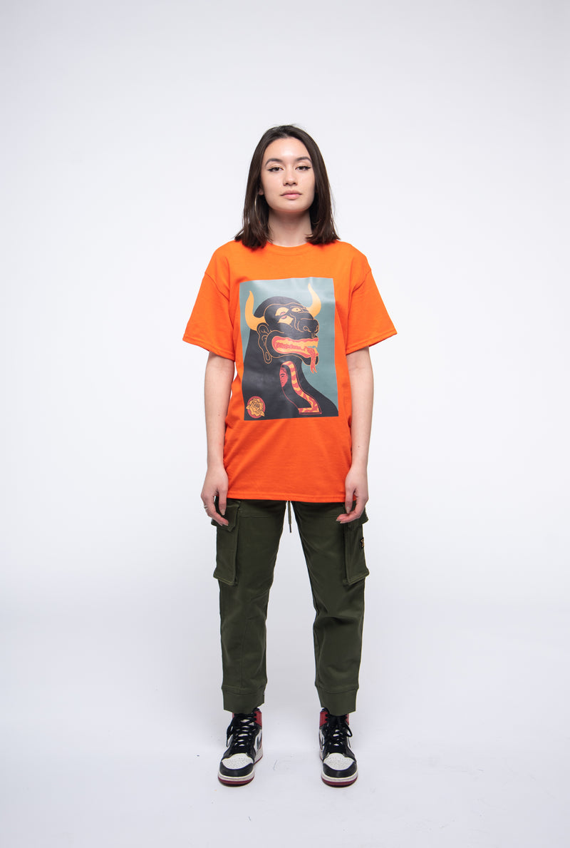 Safety orange tee+album