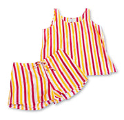 French Knickers & Tank set - Red/Yellow w/stripe