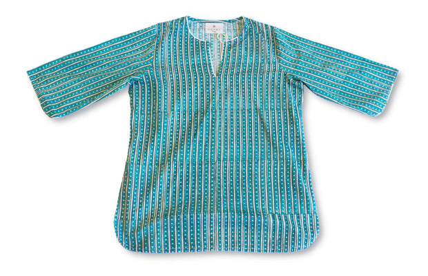 Pajama Set - Sea Green Stripe