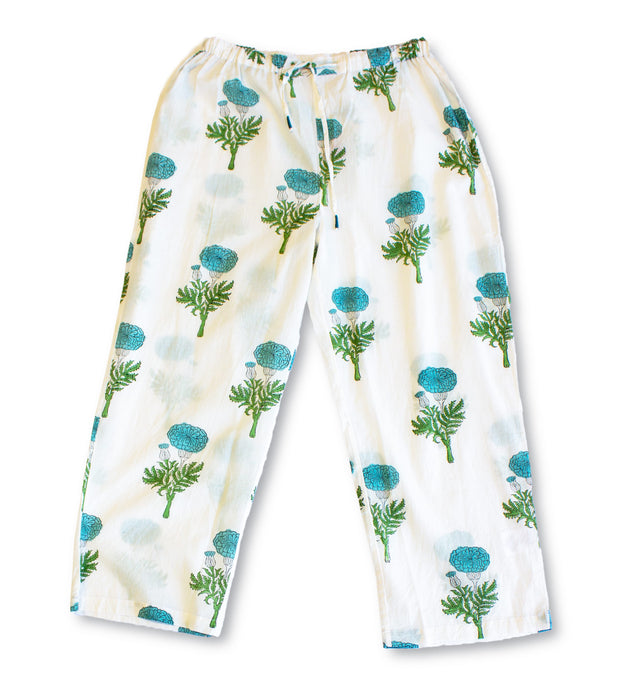 Pajama Set - Sea Green Print