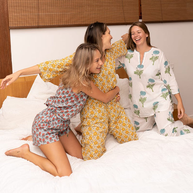 Pajama Set - Yellow Print