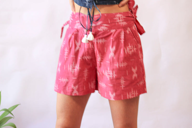 Rail Short - Pink Ikat