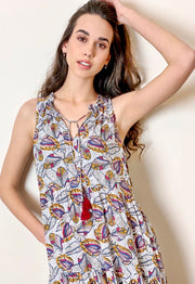 Aditi Dress - African Leaf Print