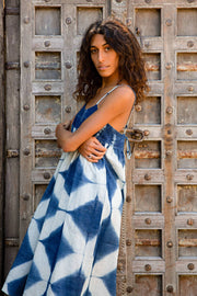 Kopal Women's Dress - Puja Dress - Shibori Indigo