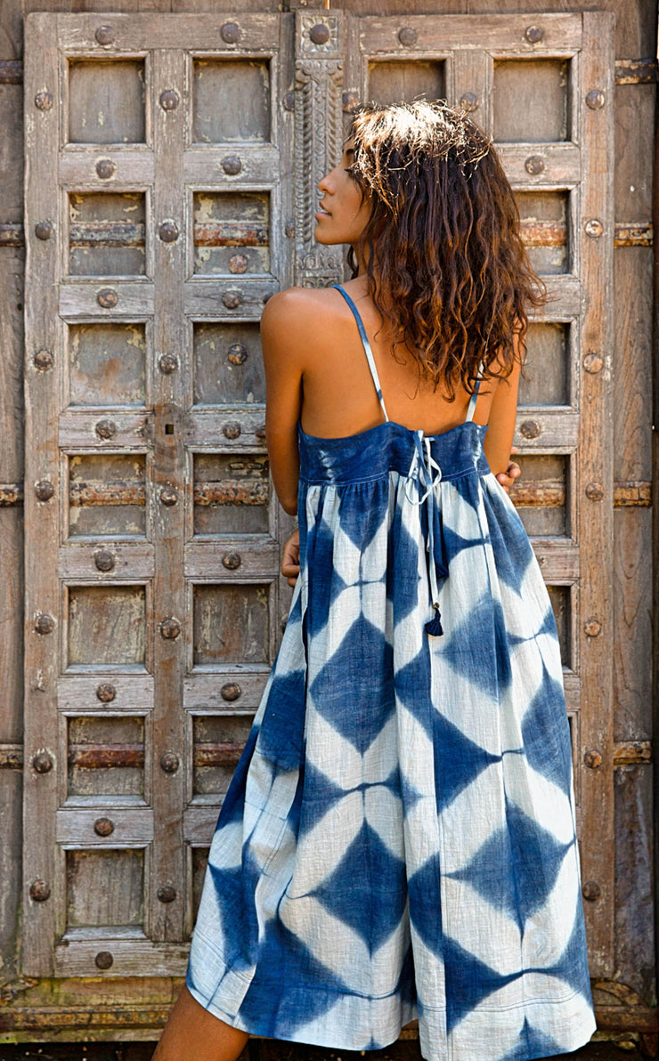 Puja Dress – Shibori Indigo