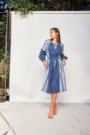 Tici Dress – Indigo Khadi