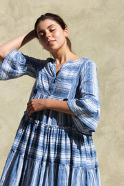 Jaipur Dress – Bold Indigo Stripe