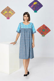 Kopal Women's Dress - Kani Dress- Blue