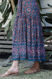 Chand Dress – X-Ray Print Indigo
