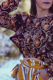 Nita Top – African Brown Print