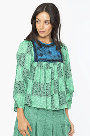 Zeenat Top – Palm Green