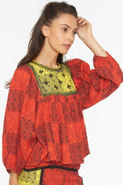 Zeenat Top – Fire Orange