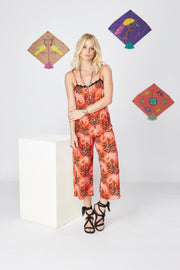 Kopal Women's Pants - Pradee Pant - Tropical Orange Red