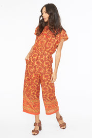 Chand Romper – X-Ray Print Desert Orange