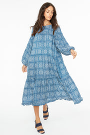 Kopal Women's Dress - Cord Dress - Indigo