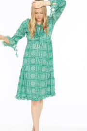 Kopal Women's Dress Green - Neem Dress - Parrot