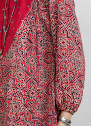Mani Top – Moroccan Red Tile Print