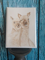 """Alpacas"" Frameable Greeting Card & Envelope"