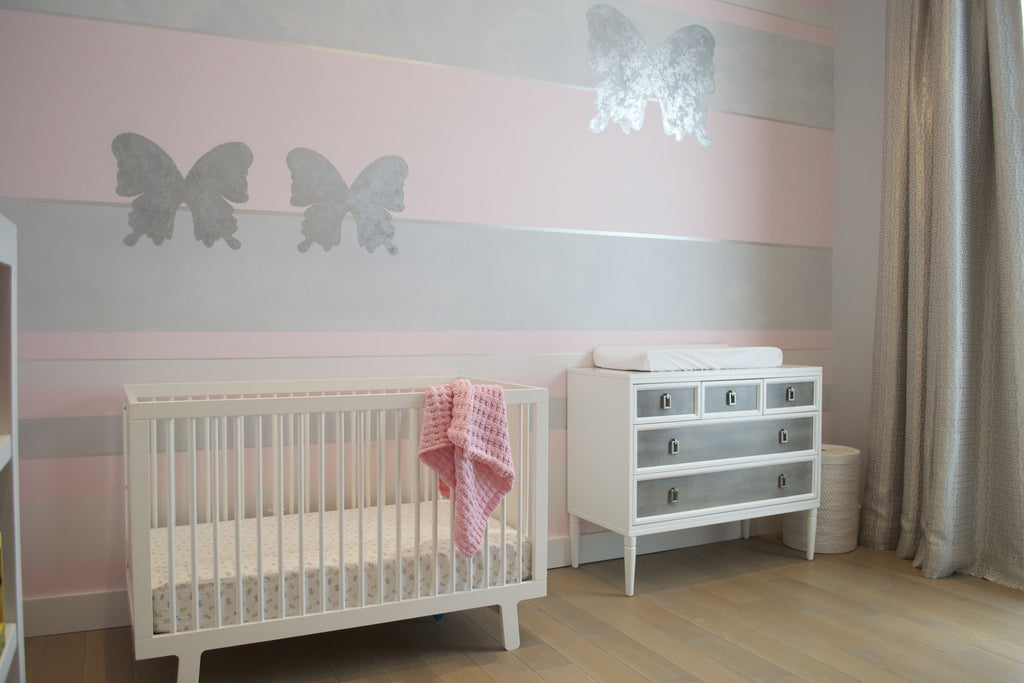 Modern Pink Butterfly Nursery! Woodmere, NY
