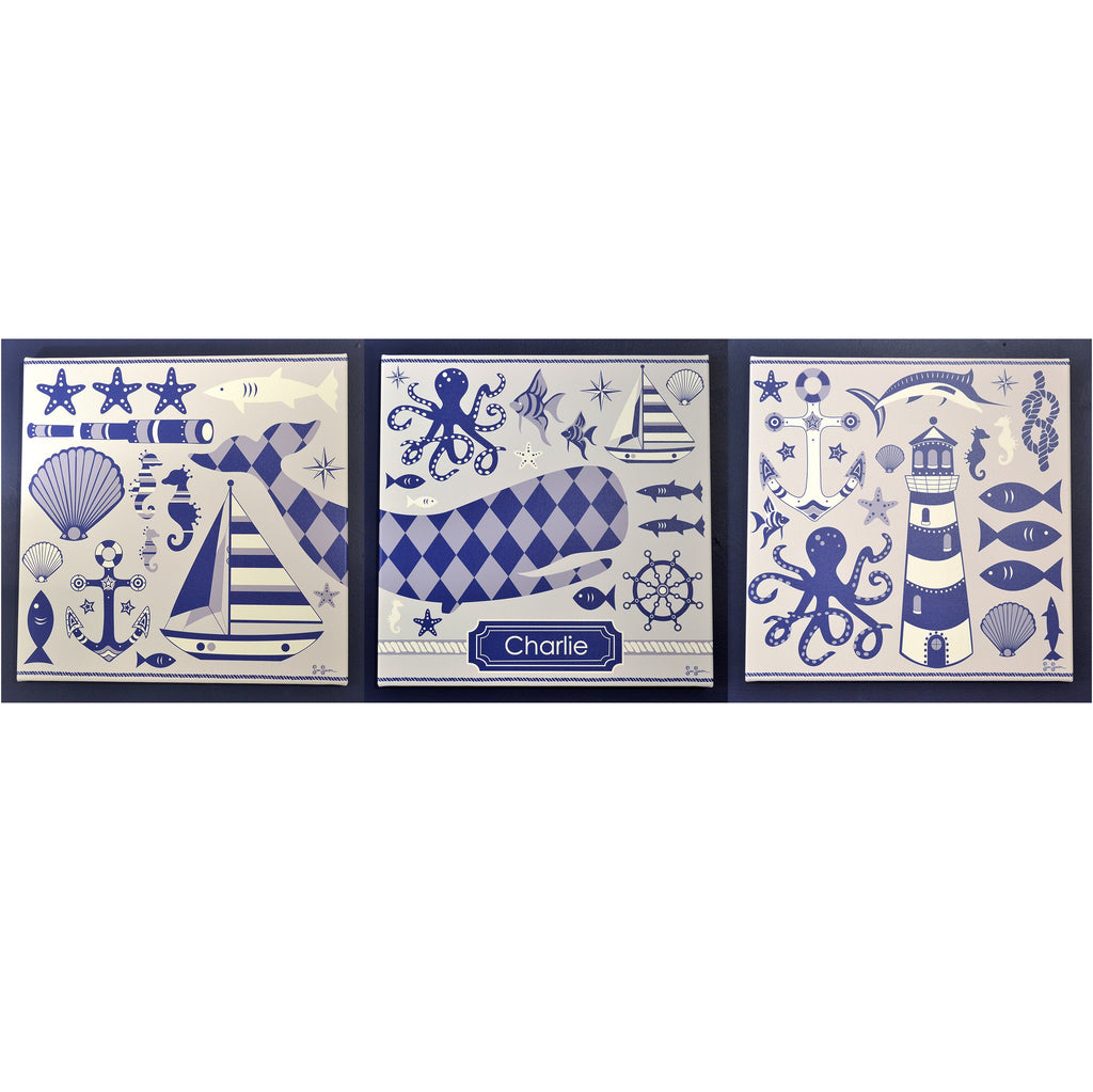 Nautical Prints On Canvas Set