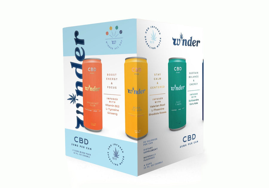 MIXED PACK Sparkling CBD Beverage W*nder