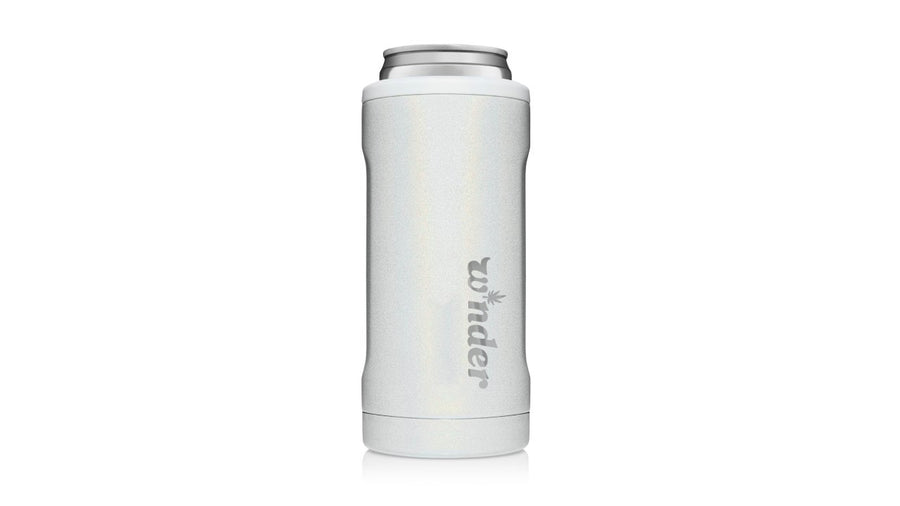 W*nder Engraved Slim Can Cooler Can Cooler W*nder Glitter White