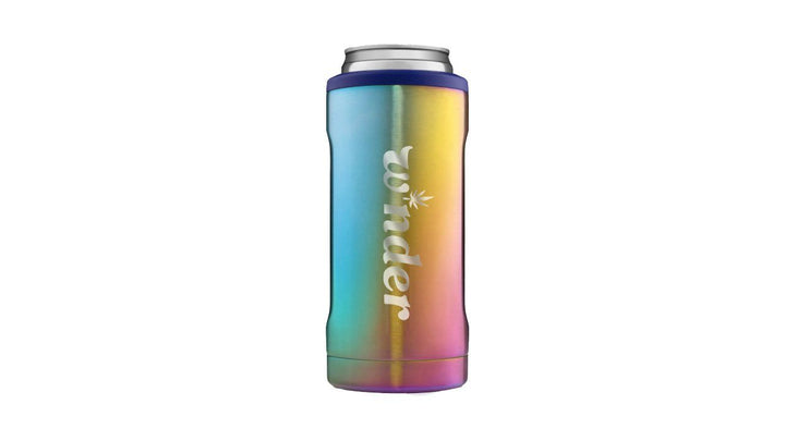 W*nder Engraved Slim Can Cooler Can Cooler W*nder Rainbow Titanium