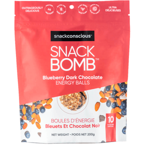 Snackconscious Snack Bomb Blueberry Dark Chocolate Energy Balls