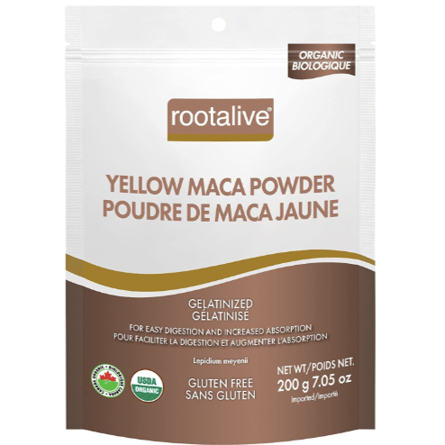 Rootalive yellow maca powder organic