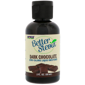 Now Better Stevia Dark Chocolate liquid sweetener