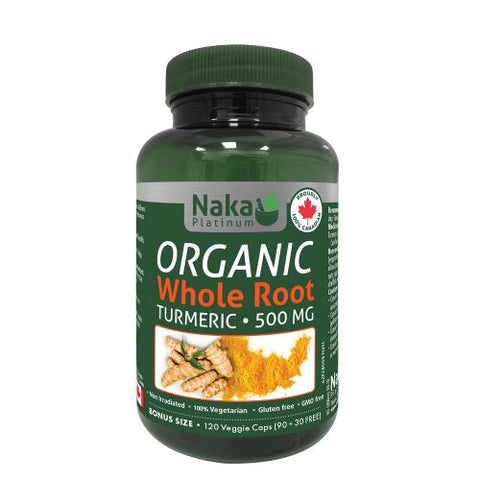 Naka Platinum Organic Whole Root Turmeric 500mg