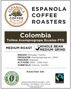 Espanola Coffee Roasters Columbia Medium Grind