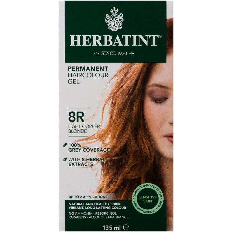 Herbatint Permanent Haircolour Gel 8R