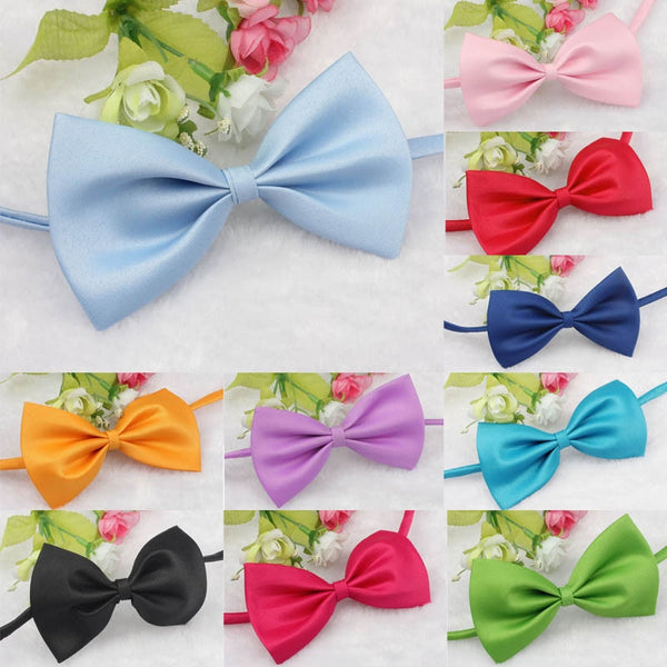 Solid Pet Bow Ties