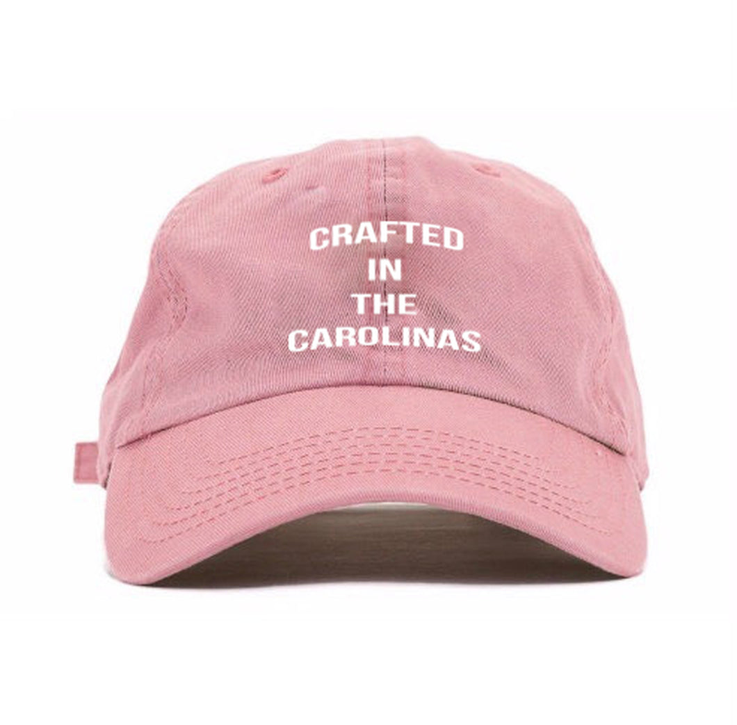 Crafted in the Carolinas Dad Hat- Pink