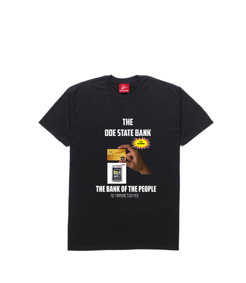 The Ode State Bank Shirt- Black