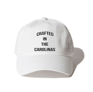 Crafted in the Carolinas Dad Hat- White
