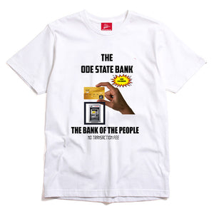 The Ode State Bank Shirt- White