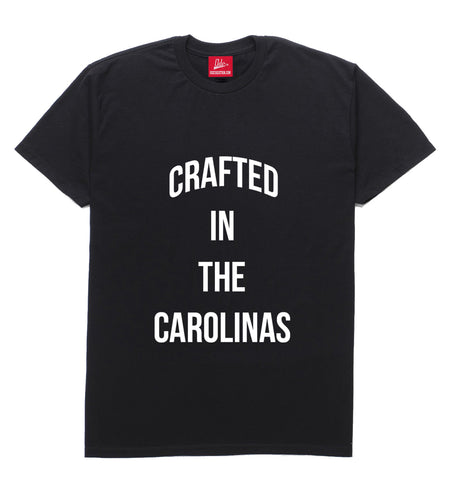 Crafted in The Carolinas Front Logo T-shirt- Black