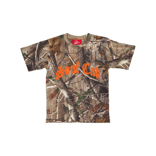 The Souf Cak Forest Camo Shirt- Orange Logo