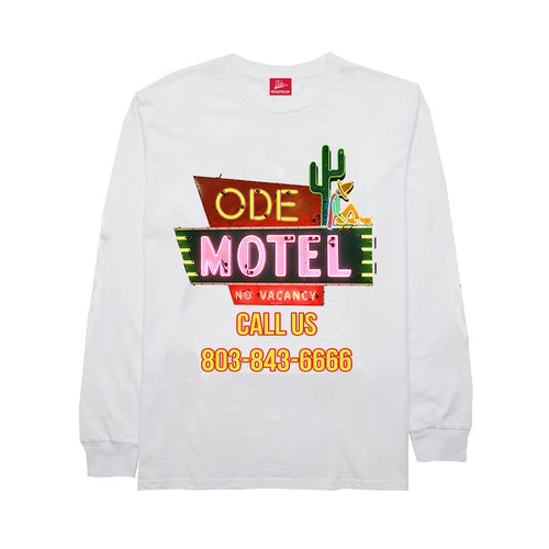 The Ode Motel Long Sleeve- White