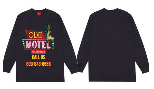 The Ode Motel Long Sleeve -Black