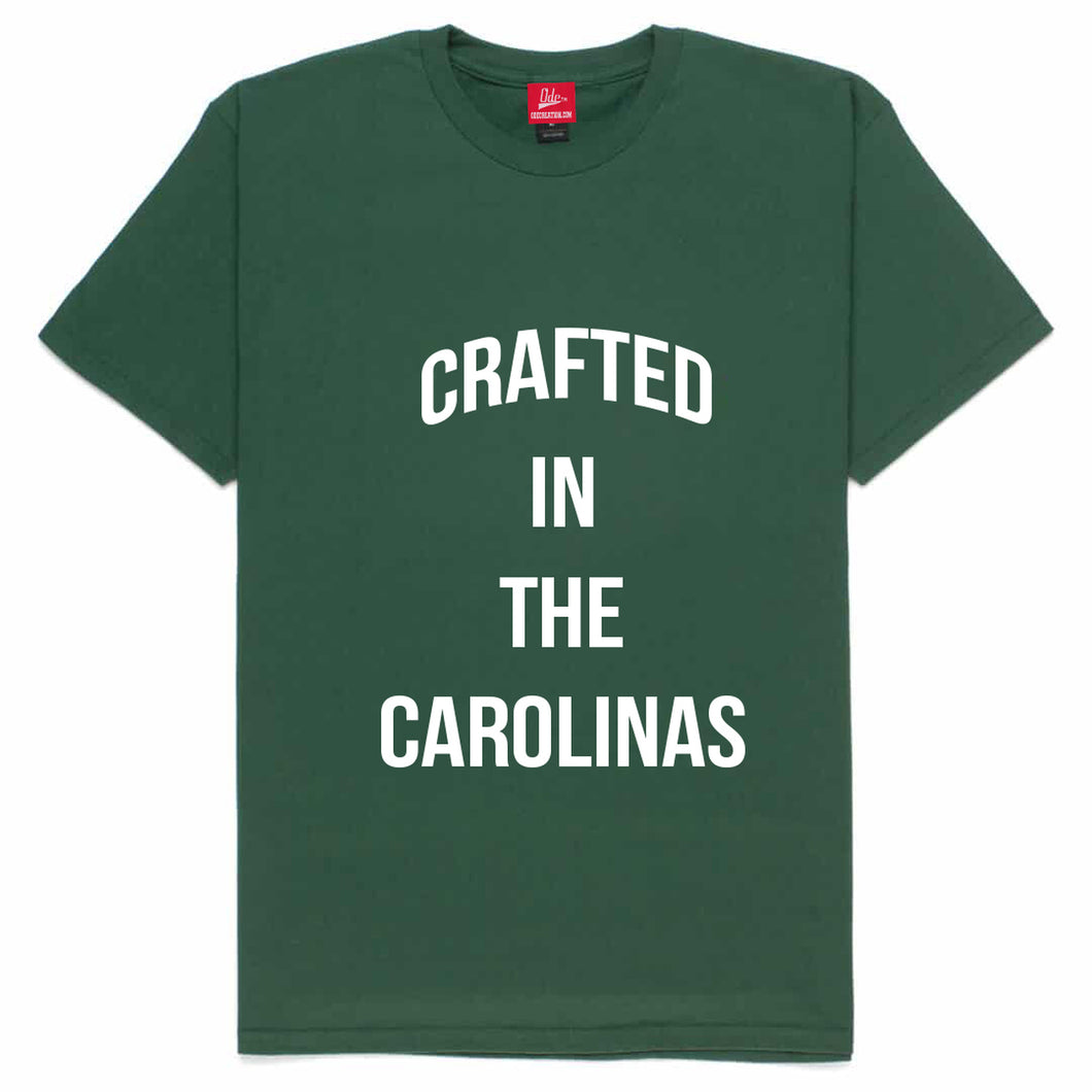 Crafted in The Carolinas Front Logo T-shirt- Green