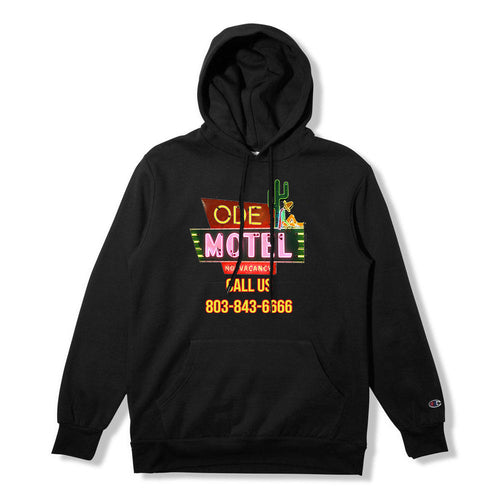 The Ode Motel Hoodie-Black