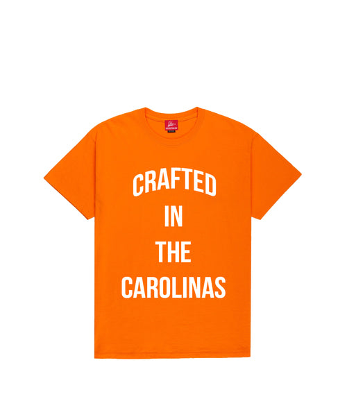 Crafted in The Carolinas Front Logo T-shirt- Orange